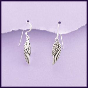 Angel Wing Sterling Silver Earrings (1)